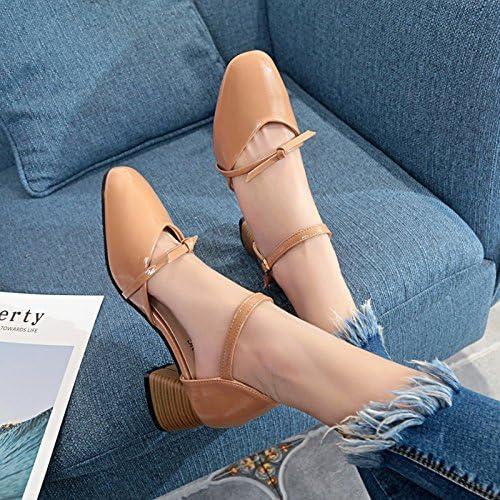 Xue Qiqi Sandales filles wild rugueuse avec des fentes permettant de chaussures femmes soft MEI HONG Mei, et,37, chaussures beige
