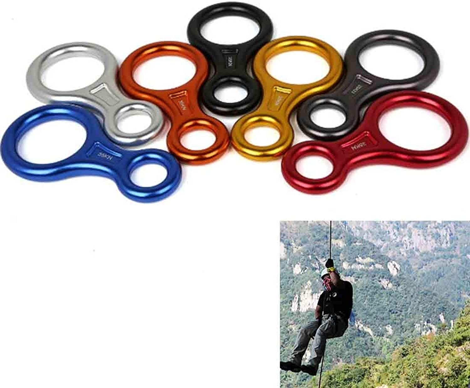 Beautiful for Outdoor Mountaineering Climbing Rescue Figure 8 Descender Downhill Equipment, Rescue, Training, Size  14.4  7.4  1.5cm Home