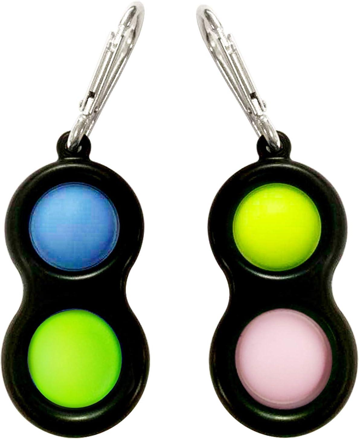 Simple Dimple Sensory Fidget Toy, 2 PCS Mini Fidget Toys for Str