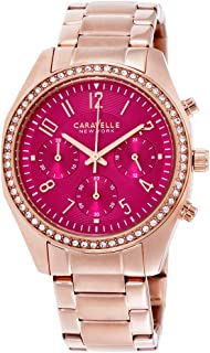 Women's Quartz Watch with Stainless-Steel Strap, Rose Gold (Model: 44L223)