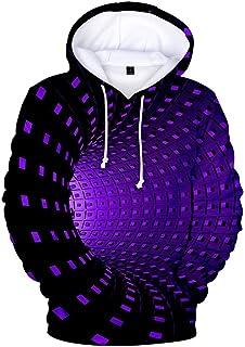Dizzy Hoodies bluza z kapturem dla mężczyzn i kobiet – Unisx 3D, czarna, biała, haftowana kostka, Vortex, bluza z kapture...