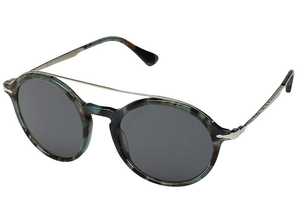 Persol 0PO3172S (Tortoise Azure/Grey) Fashion Sunglasses