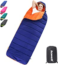 Kowell Cold Weather Sleeping Bags for Adults 40℉- 3 Season, Lightweight Waterproof Portable Camping Sleeping Bag for Hiking Outdoor Activities