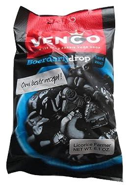 Venco Boerderij Drop hard Zout/Farm Licorice hard salty, 6.1 oz