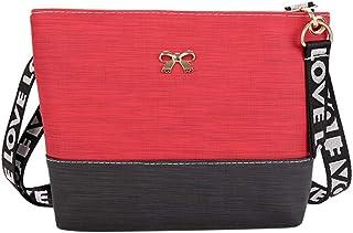 Wultia - Bags for Women 2019 Women Leather Shoulder Bag Messenger Satchel Tote Crossbody Bag Handbag Bolsa Feminina Red