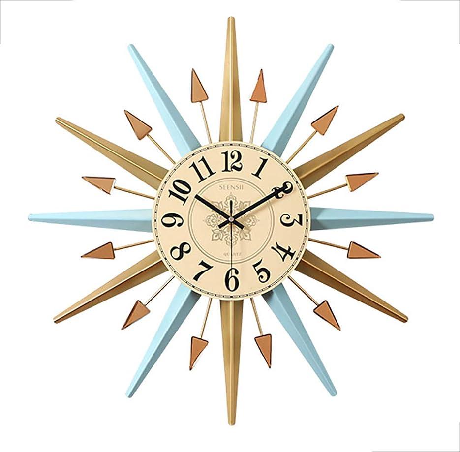 海洋の赤字曇ったYiteng 掛け時計 壁時計 壁掛け時計 ウォールクロック サンバーストクロック アラビア数字 静音 シンプル おしゃれ インテリア 部屋装飾 北欧風 洋風 部屋 ベッドルーム プレゼント (水色)