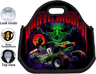 Reusable Lunchbox Skull_Grave Insulated Neoprene Lunch Bag Tote Handbag Tin Foil Container Tote Cooler