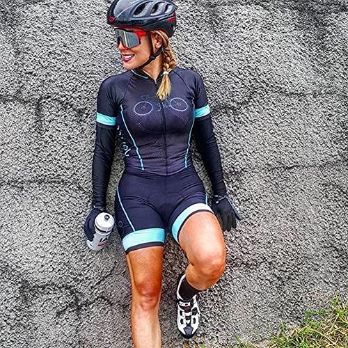Triatlón femenino triatlón, trajes de mujer, mujer profesión triatlón traje ropa con bolsillo y cojín de gel XJYWJ (Color : 13, Size : Medium)