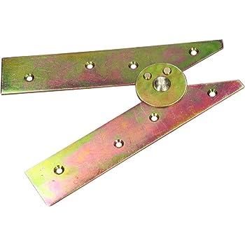 KOTARBAU - Bisagras de escalera, 200 mm, galvanizadas, color amarillo, apertura sin ganchos, bisagras de escalera, robustas: Amazon.es: Bricolaje y herramientas