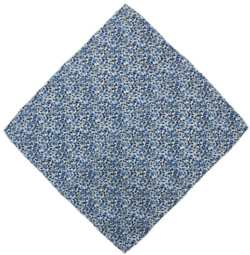 Michelsons of London Mouchoir bleu marine Pin Dot soie de