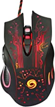 Gaming Mouse, Ergonomic Wired Gaming Mice 5 Level DPI 3200, RGB LED Breathing Light for Laptop PC Notebook Computer Games & Work -Black
