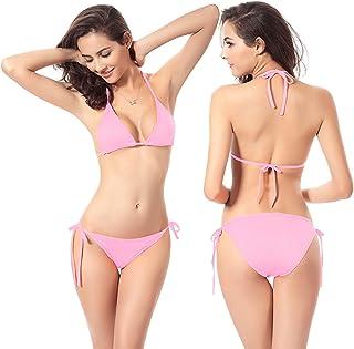 Vaupan Sexy Bikini Set Brazilian Swimwear Two Pieces Bottom Triangle Bikini Swimsuits Thong Bathing Suits