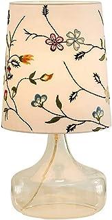 Lampes de Bureau Nordique créatif Verre Transparent Tissu Lampe de Table Lampe de Chevet Salon étude Bureau Chambre décora...