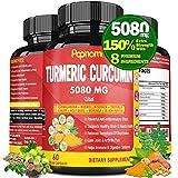 Organic Turmeric Curcumin Supplements Extract Capsules 5080mg | Arthritis Pain Relief, Enhanced Immunity, Cardio Vascular Health | Anti-Inflammatory Herbal Supplement