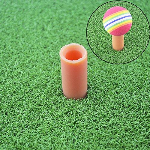 Asiv Golf Mat, Tappeto da Golf con Portatee in Gomma per Allenamento Pratica Interno 30x60 cm