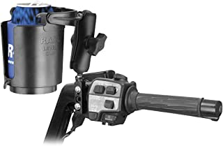RAM MOUNTS (RAM-B-174-132 Combination Brake/Clutch Reservoir U-Bolt Mount with Self-Leveling Cup Holder and Cozy
