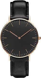 レディース 腕時計 シンプル おしゃれ クラシック 女性 時計 ビジネス クォーツ 本革ベルト 男女兼用 ブラック