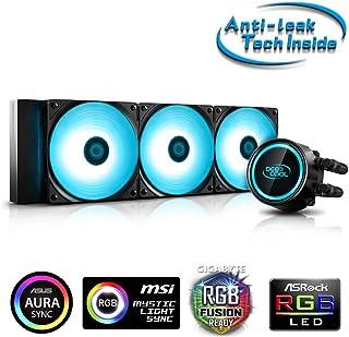 DeepCool Gammaxx L360 RGB V2 - Sistema de refrigeración antipalanca, radiador de 360 mm, disipador de líquido RGB SYNC 12 V 4 pines, compatible con Intel 115X/2066 y AMD AM4