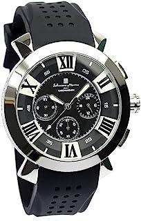 [サルバトーレマーラ]Salvatore Marra 腕時計 ウォッチ イタリアブランド 立体インデックス ビジネス カジュアル 10気圧防水 メンズ