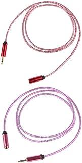 KESOTO 2 X 3,5 Mm Macho para Conexão Fêmea Cabo de Extensão de áudio de 1 M