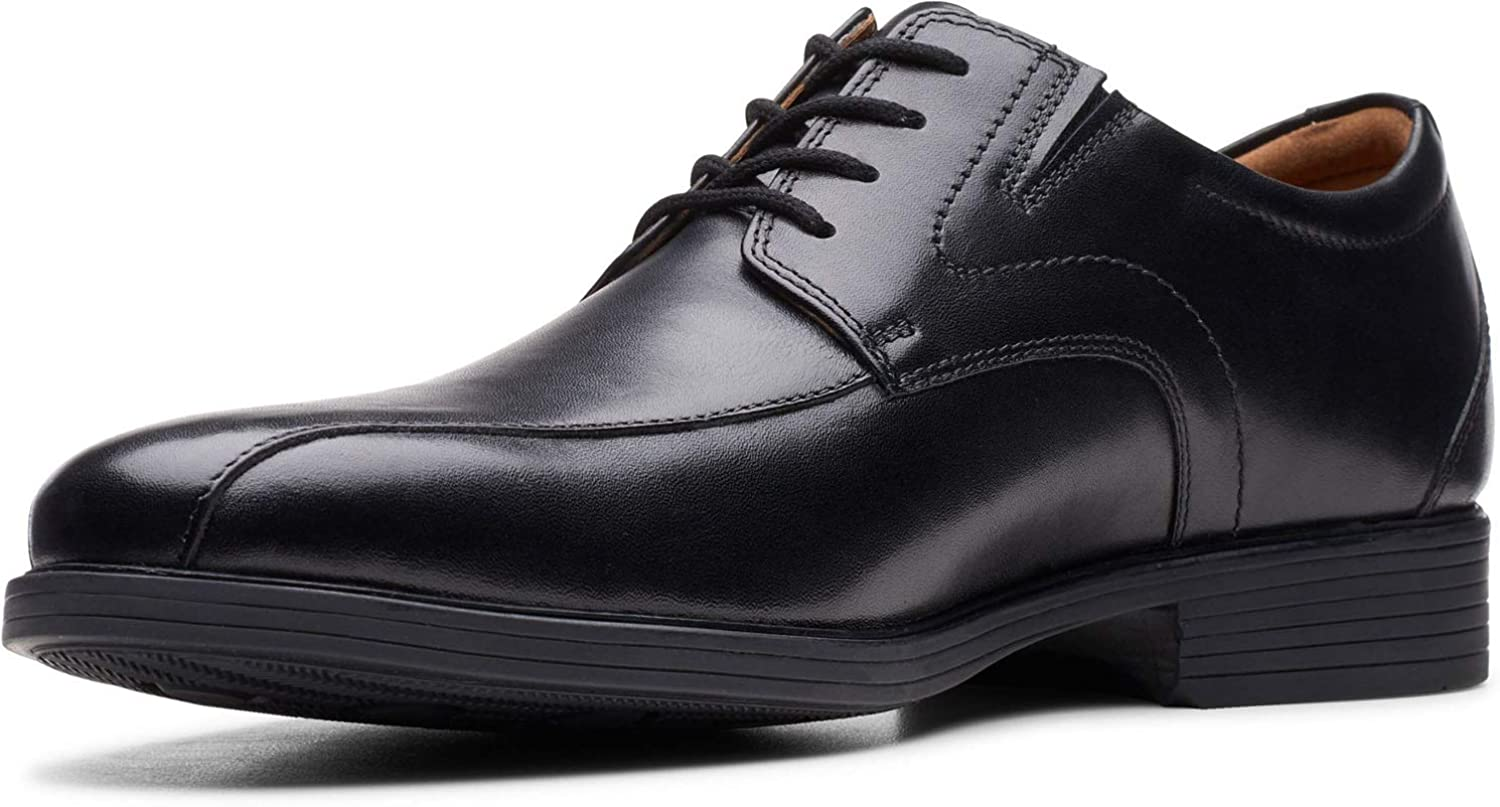 Clarks Men's Whiddon Price reduction Pace Oxford In stock Leather Wide 12 Black