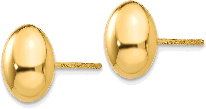 14K Gold Polished Post Earrings