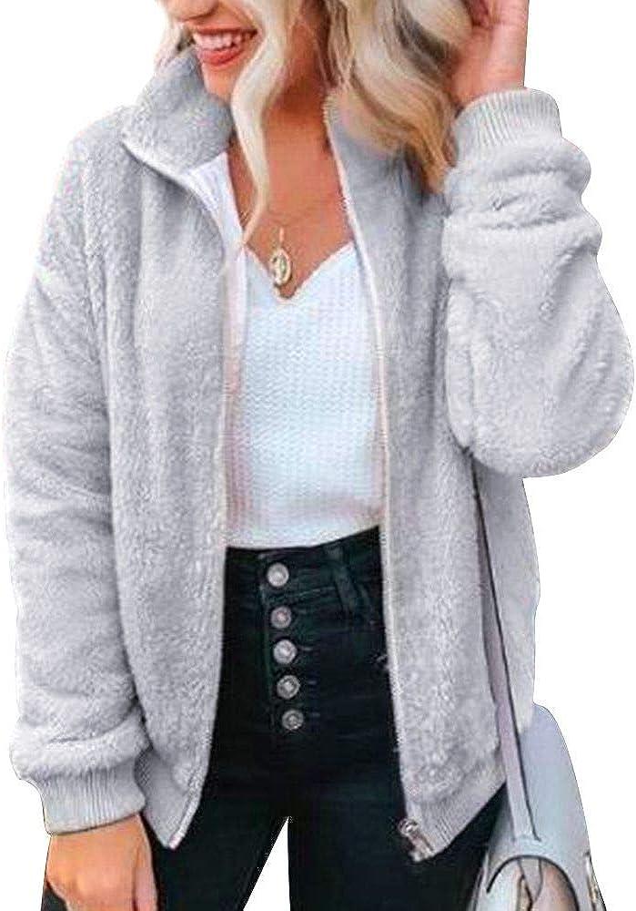 PESION Womens Fuzzy Fleece 1 year warranty Pullover Long Sleeve Sherpa Sweatshir Raleigh Mall