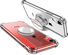 iPhone XR Case with Stand Clear Mirror Bumper Original Cover Protective Cases fit for Magnetic Mount Compatible with Apple 2018 iPhone 6.1 Inch for Women Men Girls Boys Students Best Gift