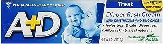 A+D Diaper Rash Cream, Dimethicone Zinc Oxide Cream, 4 oz (113 g) (Pack of 1)