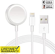Boost Charger Compatible with Apple Watch Charger, 2 in 1 Portable Charging Cable Magnetic Portable Charger Compatible with iWatch Series 4 3 2 1,iPhone 8 / X / 7 / 6S / 6 Plus/SE + Max, 3 Feet 1M