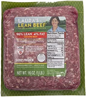 Laura's Lean 96% Lean Ground Beef - 1lb bricks - 8 per case