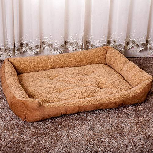Ygccw Memory Foam Knuffel Hondenmand Bed Dekens Lounger Huisdier benodigdheden Verwijderbare en wasbare herfst en winter warme kat nest 90 * 70 * 18cm