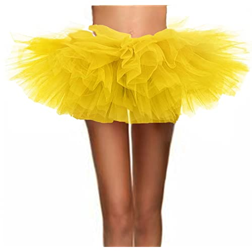409681f3018 T-Crossworld Women s Classic 6 Layered Puffy Mini Tulle Tutu Bubble Ballet  Skirt
