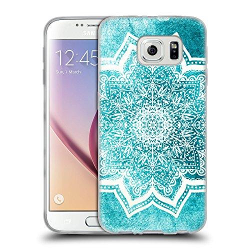 Head Case Designs Licenza Ufficiale Nika Martinez Fiori Menta Mare Mandala Cover in Morbido Gel Compatibile con Samsung Galaxy S6