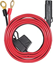 SPARKING 6FT Ring Terminal Cable - SAE to O Ring Terminal Harness Quick Connect/Disconnect Ring Terminal Assembly, 10A Fuse (6FT)