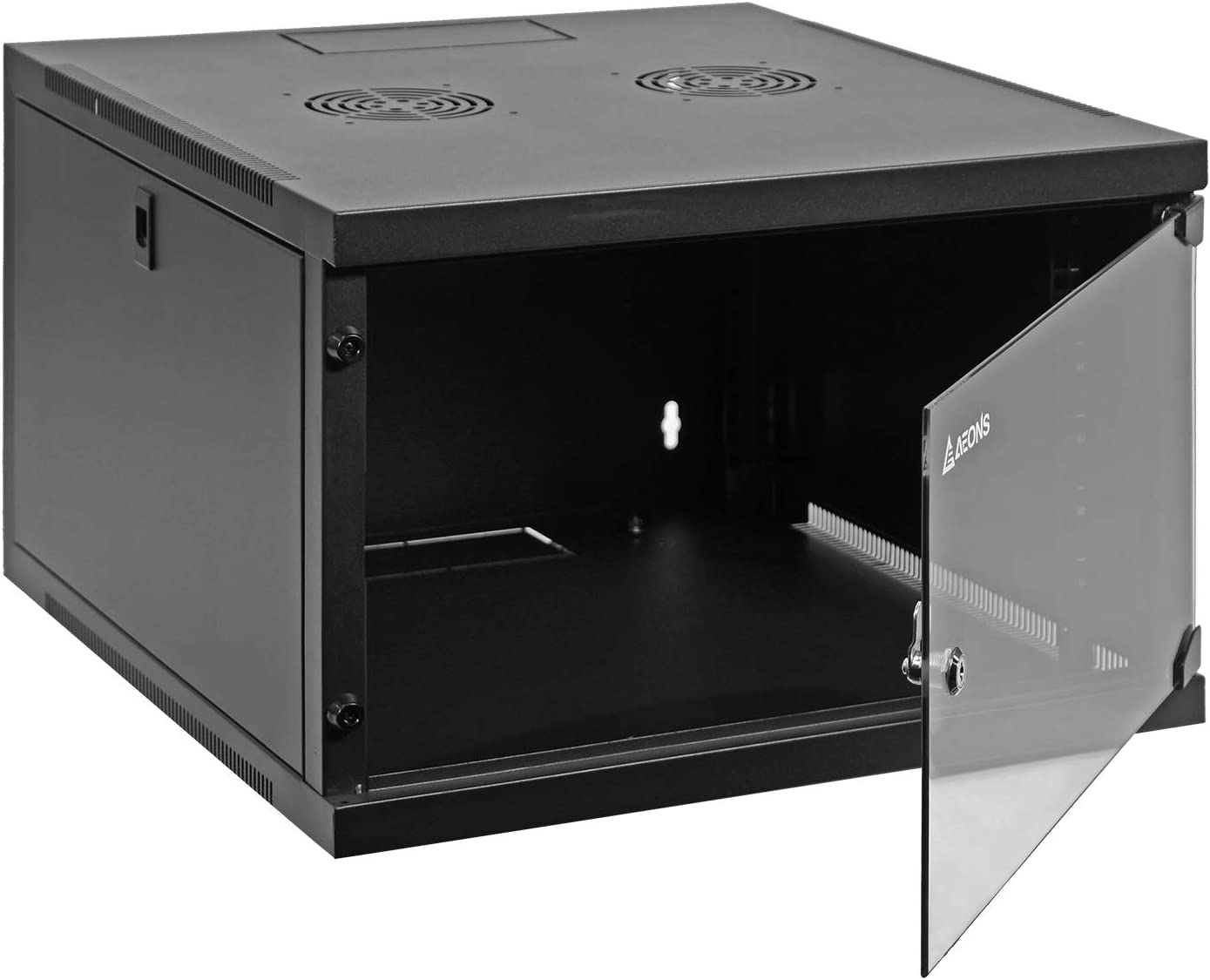 Aeons 6U Classic Wall Mount 19-inch IT Network Cabinet Enclosure Server Rack 24-inch Depth Glass Door (Fully Assembled)