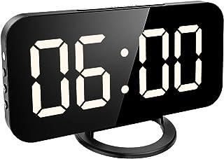KeeKit Reloj Despertador Digital LED, Gran Superficie de Esp