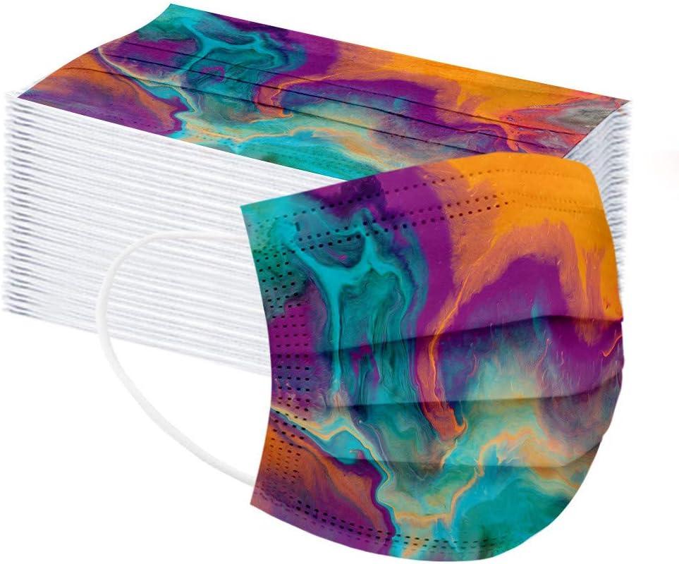 Superior BLUKIDS Unisex Tie-Dye Printed Face_Mask 3-Ply Disposabl Pcs Large-scale sale 50