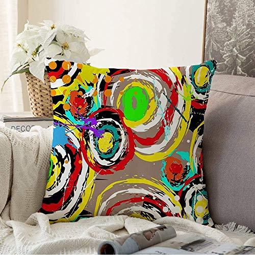 N\A Fundas Decorativas para Cojines Funda de cojín Trazos Rasguños Patrón Paleta Abstracta Color Mosaico geométrico Patrón Mixto Resumen Diferente Funda de Almohada para sofá