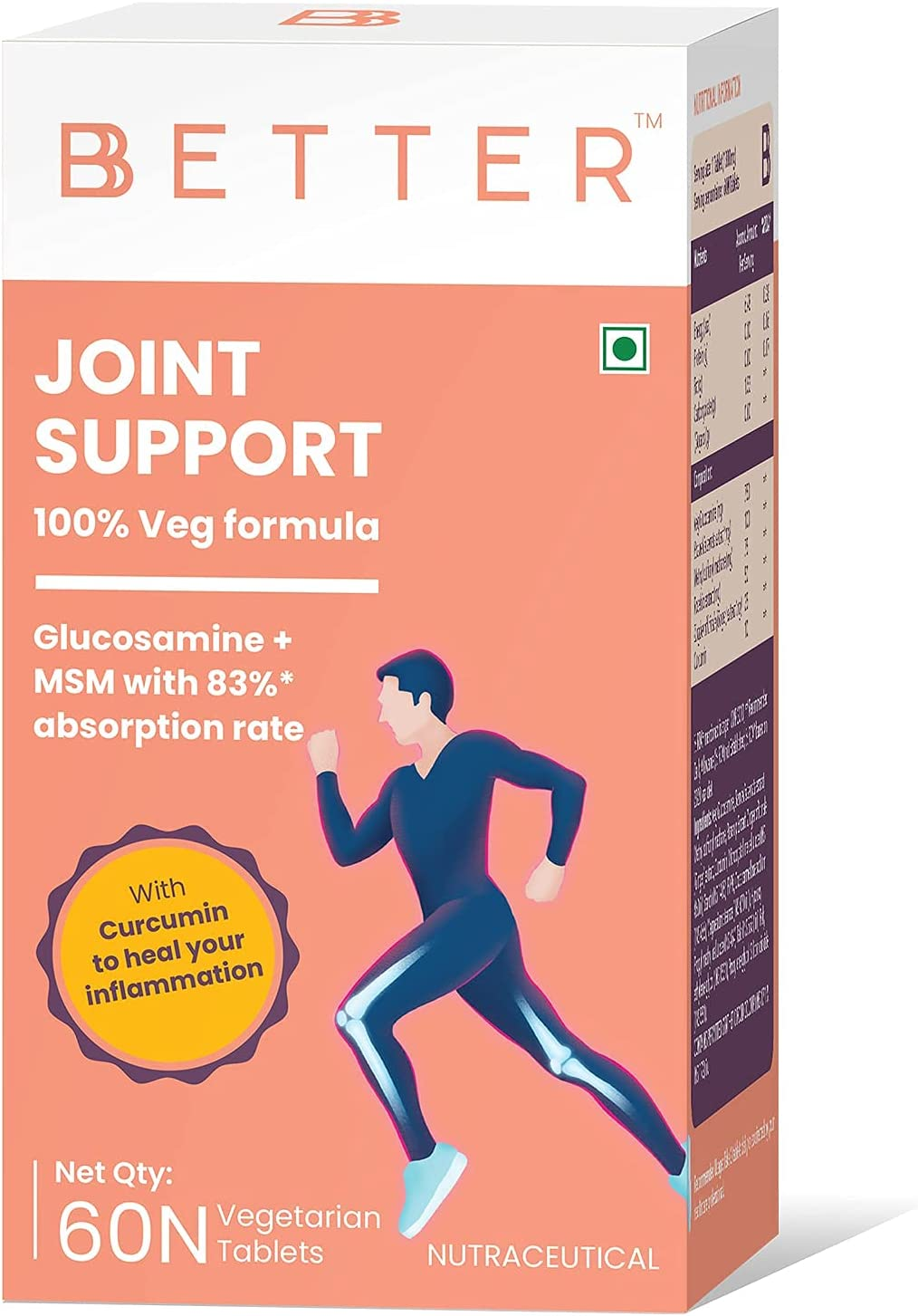 Trisha BBETTER Joint Support Supplement Max Boston Mall 59% OFF with - 100% Formula Veg