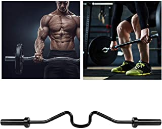 POCREATION 48'' Solid Steel Barbell Weight Lifting Bar,Curl Bar for Strength Training, Bicep Curls, Triceps Extensions, Up...