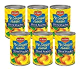 Del Monte® No Sugar Added Sliced Yellow Cling Peaches 1/6-14.5 oz. Can
