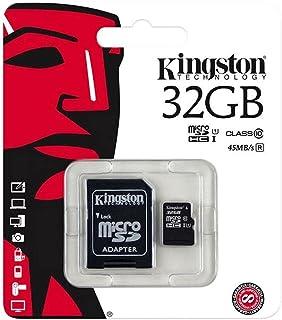كينجستون بطاقة ذاكرة متوافقة مع هواتف خلوية - بطاقات مايكرو اس دي - 32 جيجابايت SDCS/32GB