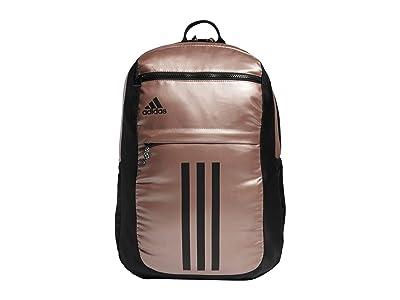 adidas League 3 Stripe Backpack (Rose Gold/Black) Bags