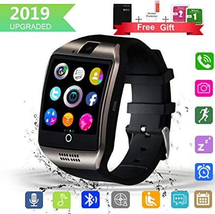 Bluetooth Smart Watch with Camera Touchscreen,Waterproof Smartwatch Unlocked Phone Watchs with SIM Card Slot, Smart Wrist Watch Compatible with Android iPhone X 8 7 6 5 Plus (Q18-111)