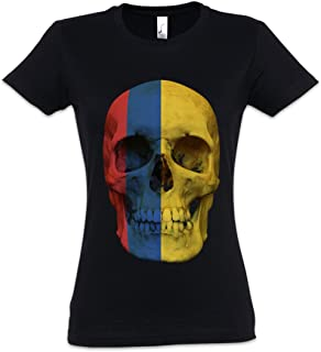 06b9e49f78431 Urban Backwoods Classic Colombia Skull Flag Women Girlie Femme T-Shirt –  Colombie bannière crâne