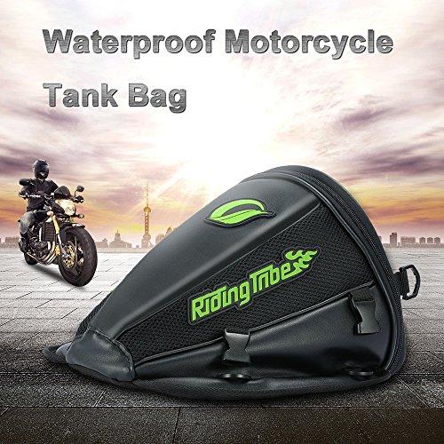 KKmoon Alforjas Motocicleta, Alforjas de la Motocicleta Tanque, Impermeable Cuero Bolsa Asiento Trasero Moto