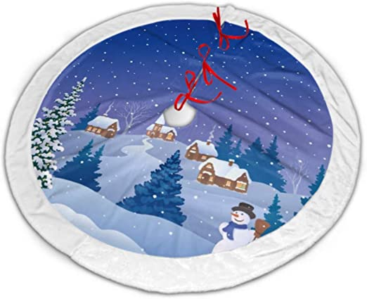 Amazon Com Whdkg Christmas Tree Skirt Cartoon Drawing Snow Covered Village Tree Skirt Small Tree Skirt Xmas Tree Skirt For Christmas Party Decorations Holiday Ornaments 36 Inch Home Kitchen Choose from contactless same day delivery, drive up and more. whdkg christmas tree skirt cartoon
