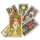 Oro de Nouveau del Arte Tarot Las Cartas Cubierta 78-Card Tarjetas de Tarot Set, Cartas de Tarot...