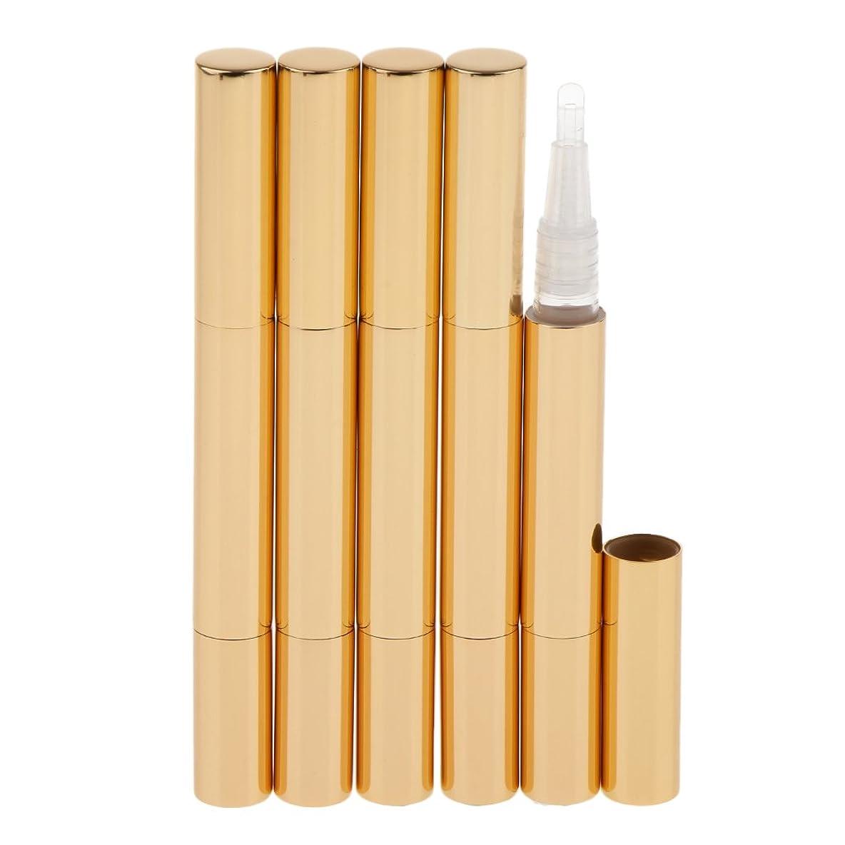 効率的に今日に沿ってKesoto 5個 化粧品容器 空チューブ  3ml ネイルオイルペン リップグロスチューブ 旅行 化粧品コンテナ 5色選べる - ゴールド